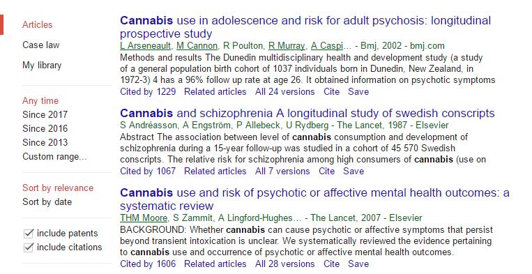 Cannabis studies