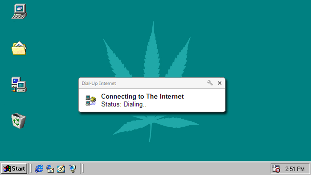 windows 98 and weed