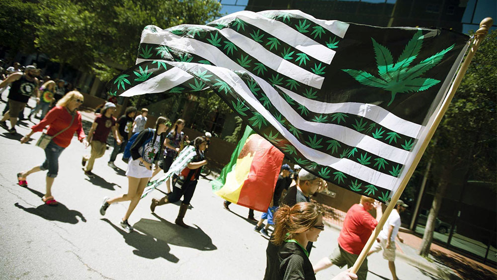 marching for weed legalization