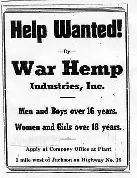 hemp help wanted