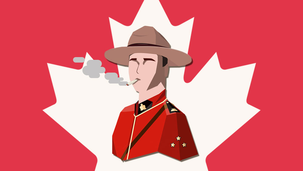 mounties smoking weed