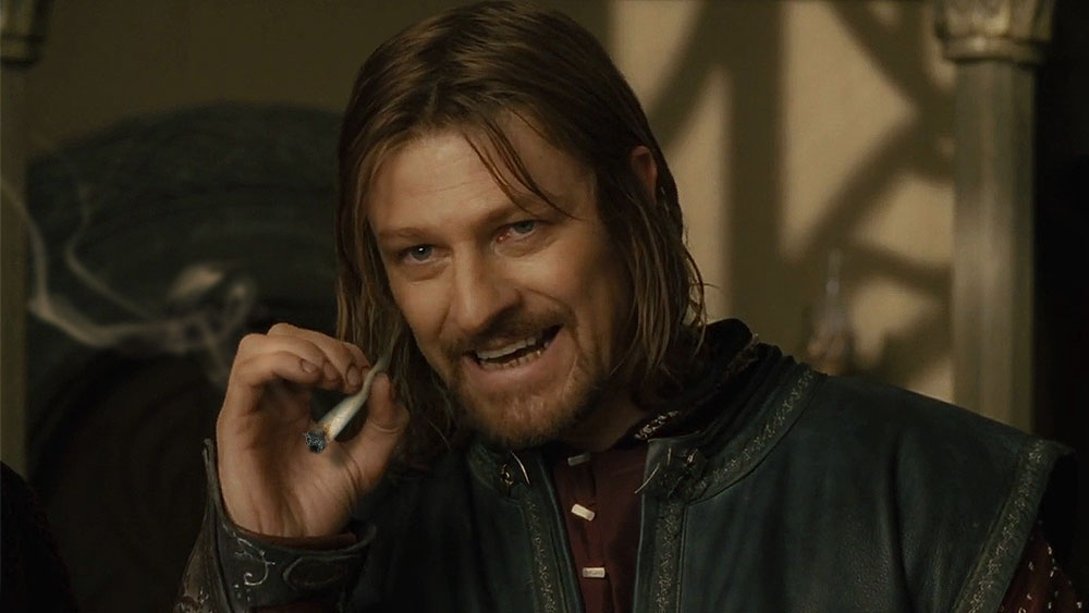 boromir smoking a joint