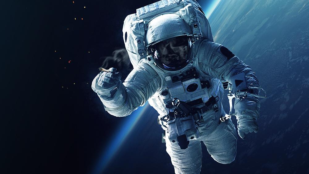 Astronaut smoking weed