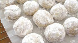Snowball cannabis cookies