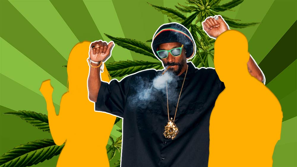 Snoop Dog and other celebrities who are becoming affiliated with cannabis brands, which Health Canada discourages.
