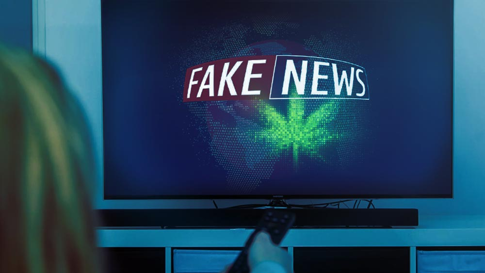 Screen that says 'Fake News'
