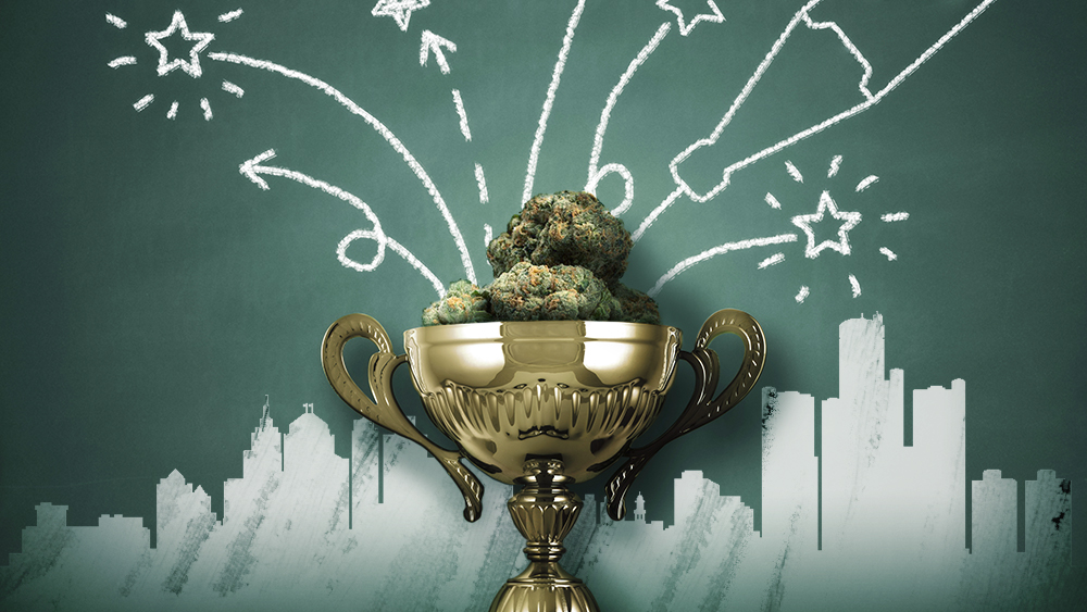 Cannabis in a trophy